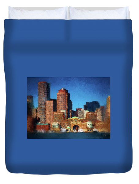 Rowes Wharf Boston Duvet Cover