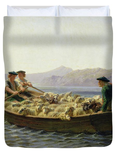Rowing Boat Duvet Cover by Rosa Bonheur