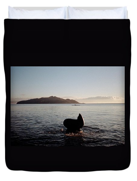 Rowing Off Sausalito, Ca Duvet Cover