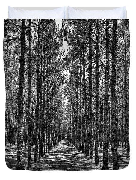 Rows Of Pines Vertical Duvet Cover