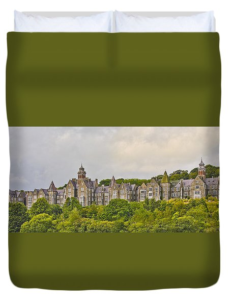 Duvet Cover featuring the photograph Rows by Wanda Krack