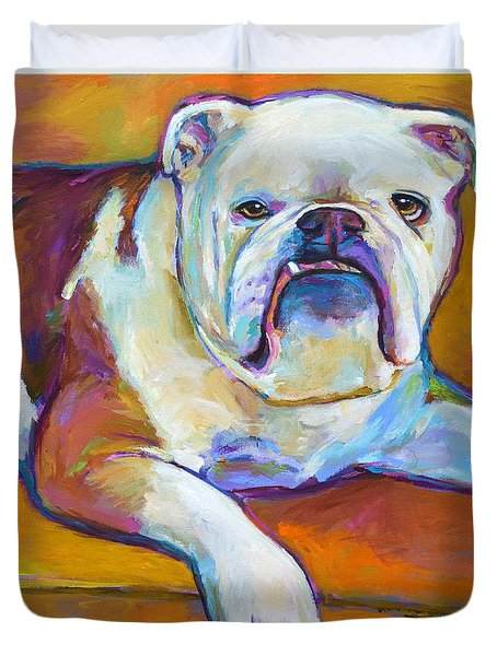 Duvet Cover featuring the painting Roxi by Robert Phelps