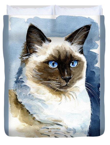 Roxy - Ragdoll Cat Portrait Duvet Cover