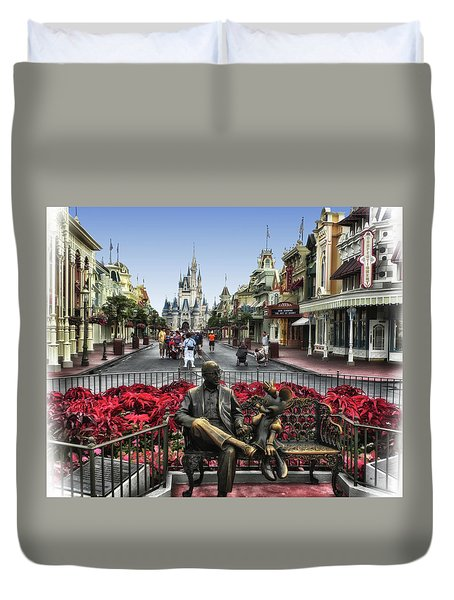 Roy And Minnie Mouse Walt Disney World Mp Duvet Cover