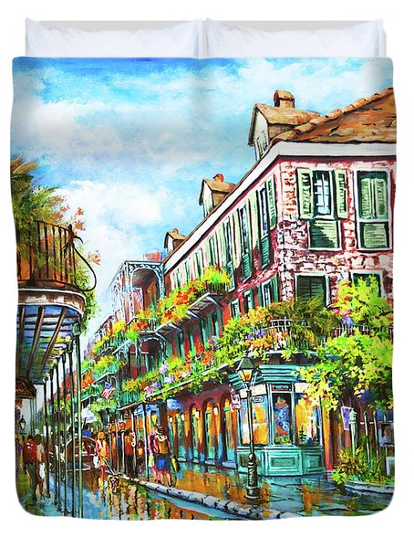 Royal At Pere Antoine Alley, New Orleans French Quarter Duvet Cover