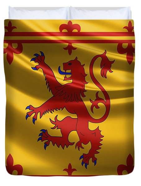 Royal Banner Of The Royal Arms Of Scotland Duvet Cover