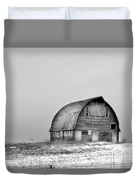 Royal Barn Bw Duvet Cover by Bonfire Photography