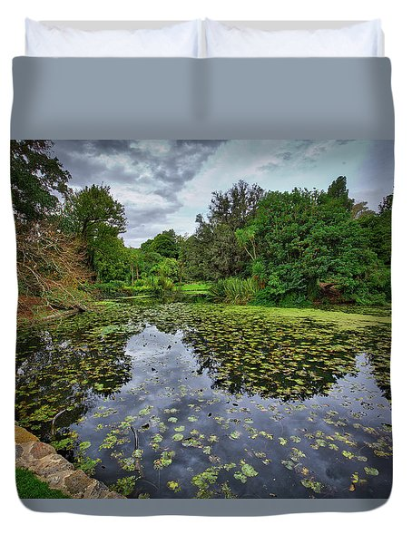 Duvet Cover featuring the photograph Royal Botanical Gardens, Melbourne by Ross Henton