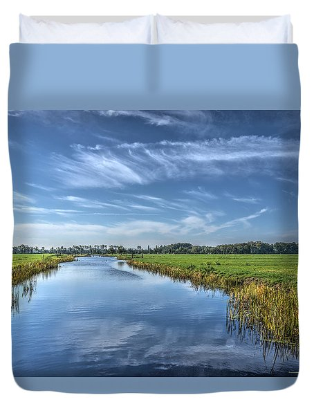 Royal Canal And Grasslands Duvet Cover
