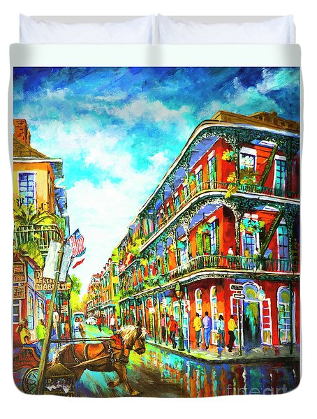 Royal Carriage - New Orleans French Quarter Duvet Cover