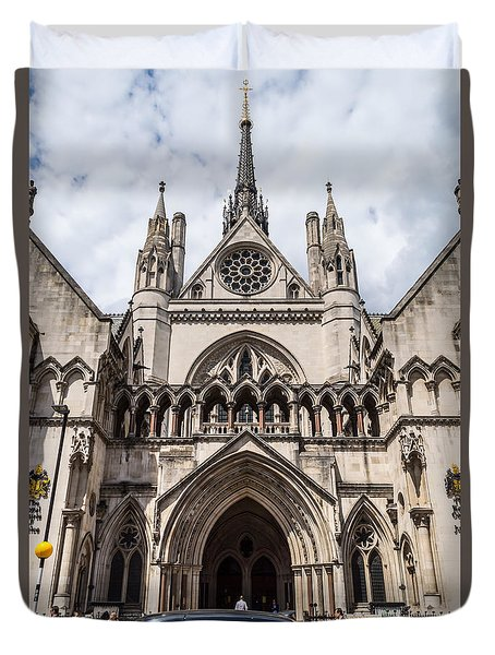 Royal Courts Of Justice In London Duvet Cover