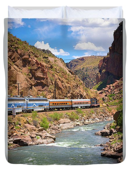 Royal Gorge River View Duvet Cover