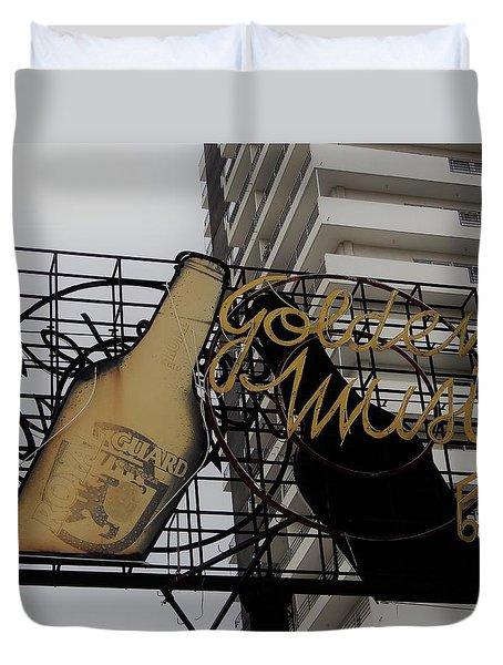 Royal Guard Cerveza And Golden Music Sign Duvet Cover