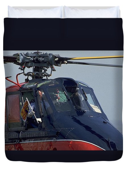 Duvet Cover featuring the photograph Royal Helicopter by Travel Pics