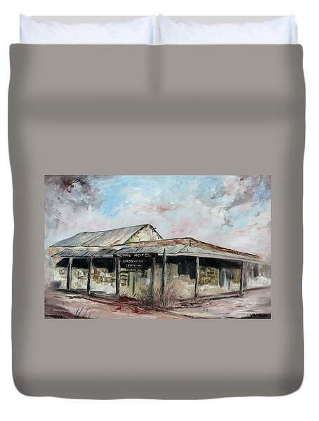 Royal Hotel, Birdsville Duvet Cover