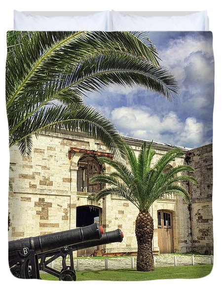 Royal Naval Dockyard Fort Duvet Cover