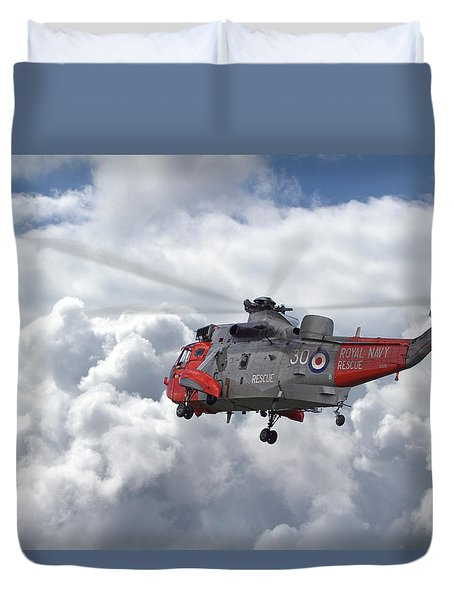 Duvet Cover featuring the photograph Royal Navy - Sea King by Pat Speirs