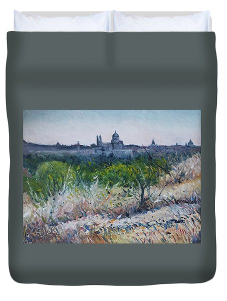 Royal Palace Madrid Spain 2016 Duvet Cover by Enver Larney