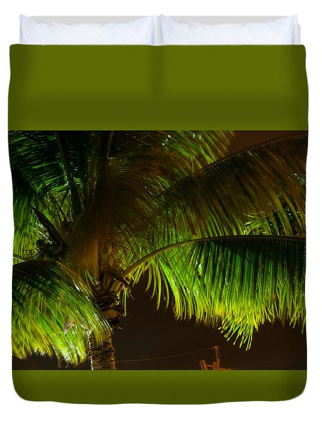 Royal Palm Night Out Duvet Cover