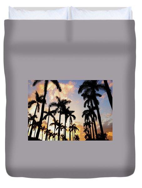 Royal Palm Way Duvet Cover