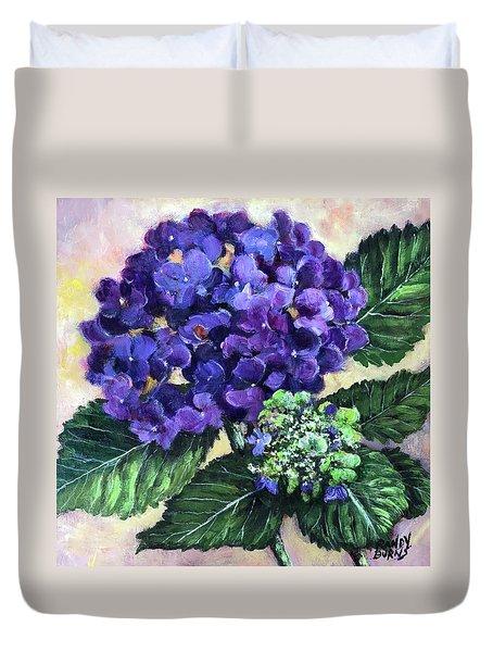 Royal Purple Hydrangea Duvet Cover