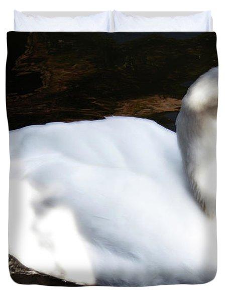 Royal Swan Duvet Cover