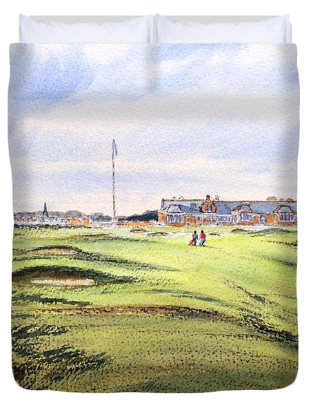 Royal Troon Golf Course Duvet Cover by Bill Holkham