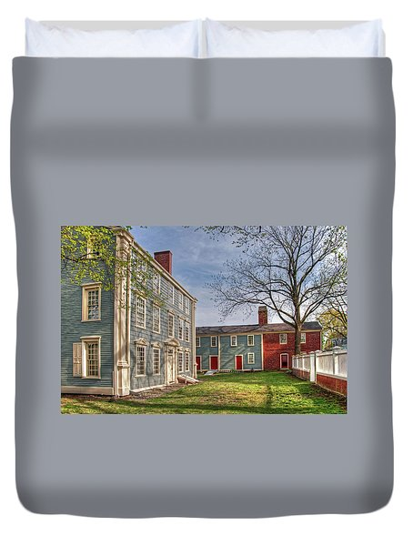 Duvet Cover featuring the photograph Royall House And Slave Quarters by Wayne Marshall Chase
