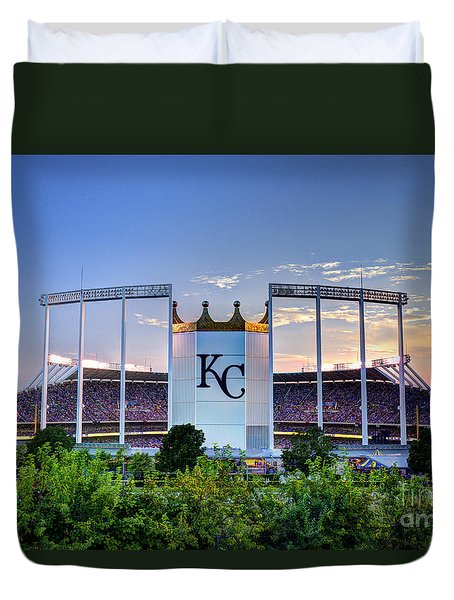 Royals Kauffman Stadium  Duvet Cover by Jean Hutchison