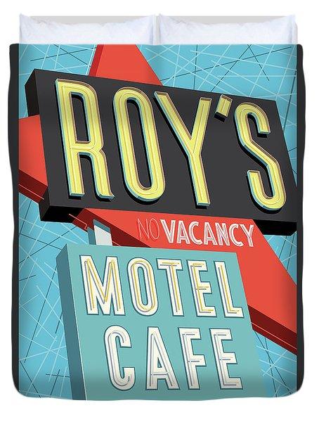 Roy's Motel Cafe Pop Art Duvet Cover