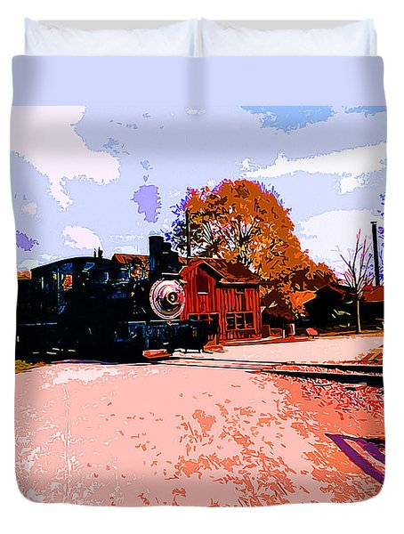 Country Railroad Crossing Duvet Cover