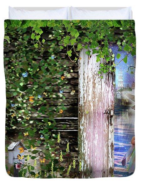 Duvet Cover featuring the digital art  Ruach Ha-kodesh by Dolores Develde