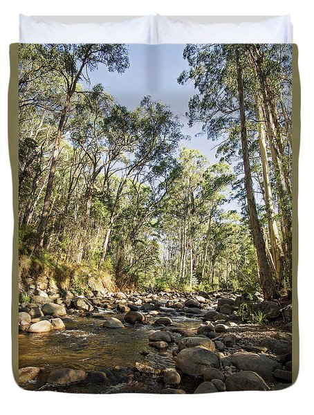 Duvet Cover featuring the photograph Rubicon River by Linda Lees
