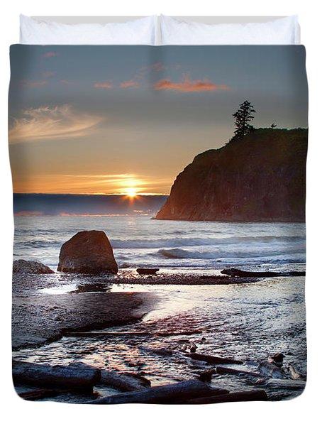 Ruby Beach #1 Duvet Cover