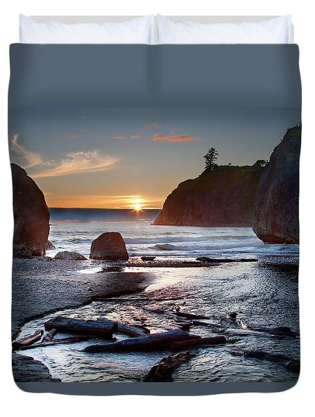 Ruby Beach #1 Duvet Cover
