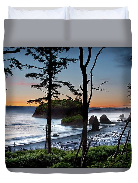 Ruby Beach #2 Duvet Cover