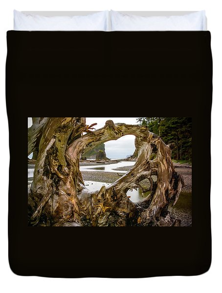 Ruby Beach Driftwood 2007 Duvet Cover
