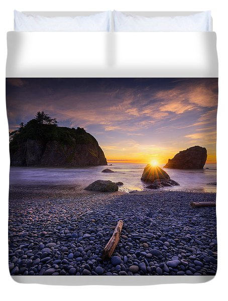 Ruby Beach Dreaming Duvet Cover