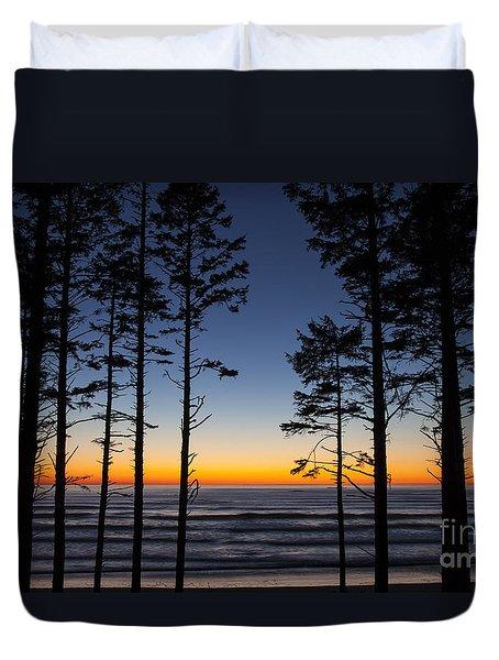 Ruby Beach Trees #4 Duvet Cover