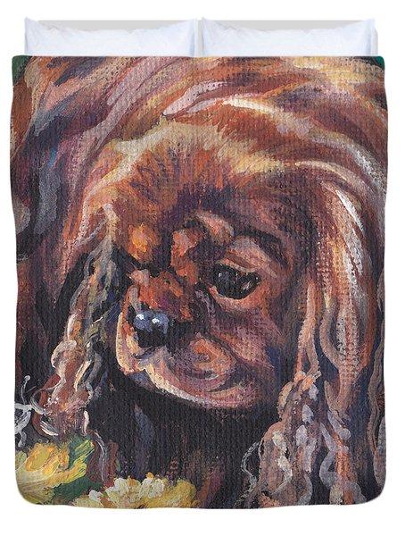 Ruby Cavalier King Charles Spaniel Duvet Cover