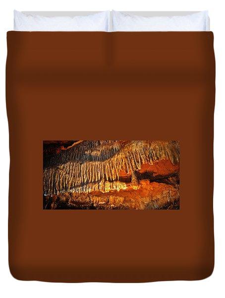 Ruby Falls Tobacco Leaves Duvet Cover