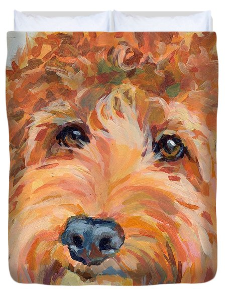 Ruby Duvet Cover by Kimberly Santini