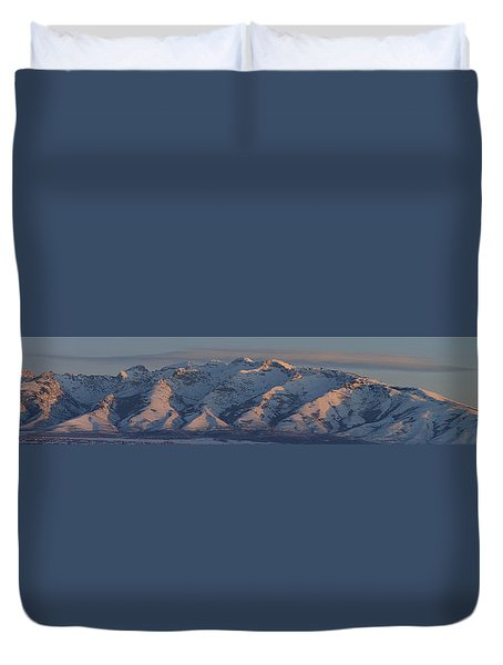 Ruby Mountains Panorama Duvet Cover