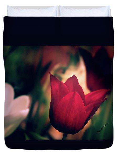 Ruby Red Tulip Duvet Cover
