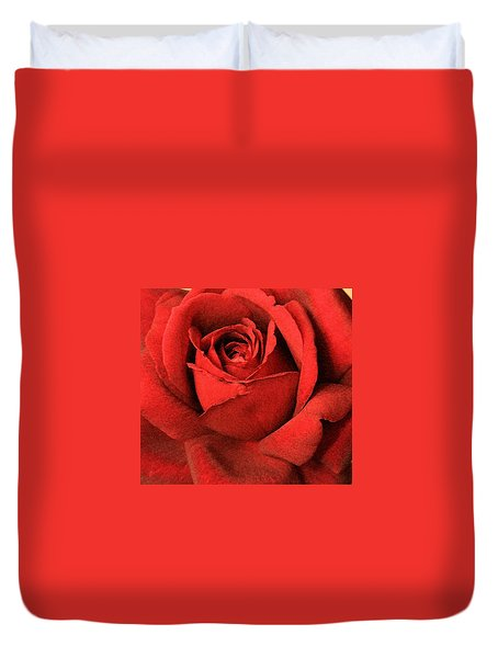 Duvet Cover featuring the photograph Ruby Rose by Marna Edwards Flavell