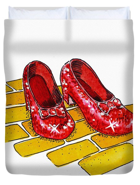 Ruby Slippers The Wizard Of Oz  Duvet Cover