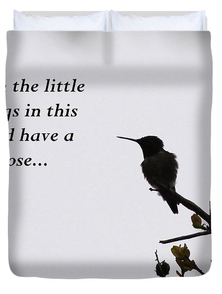 Ruby-throated Hummingbird - Little Things Duvet Cover