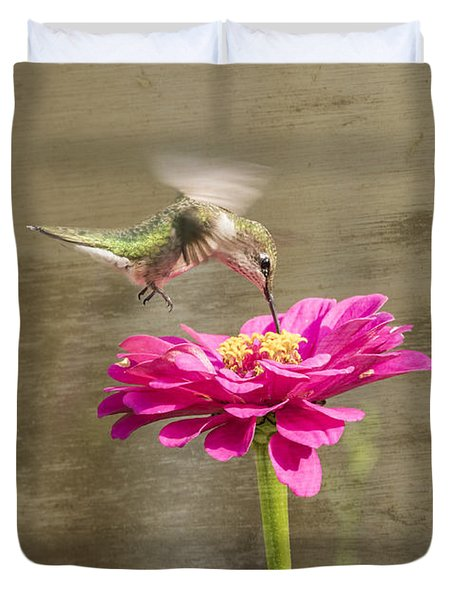 Ruby Throated Hummingbird 12-2015 Duvet Cover