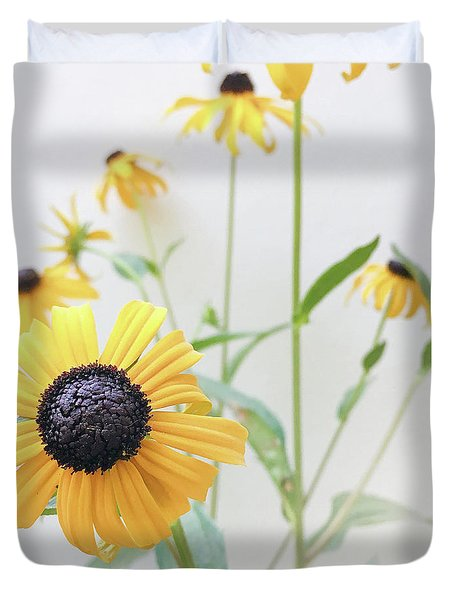 Duvet Cover featuring the photograph Rudbeckia 1 by Cindy Garber Iverson
