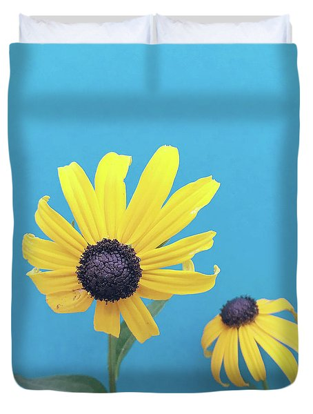 Duvet Cover featuring the photograph Rudbeckia 2 by Cindy Garber Iverson